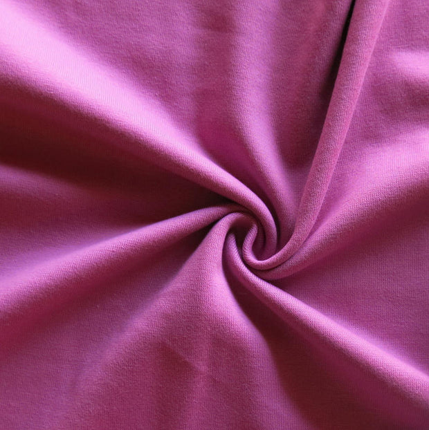 Lovely Berry Cotton Heavy Rib Knit Fabric