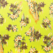Hawaiian Oasis on Yellow Nylon Spandex Swimsuit Fabric