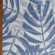 Blue and Grey Foliage Cotton Spandex Jersey Knit Fabric