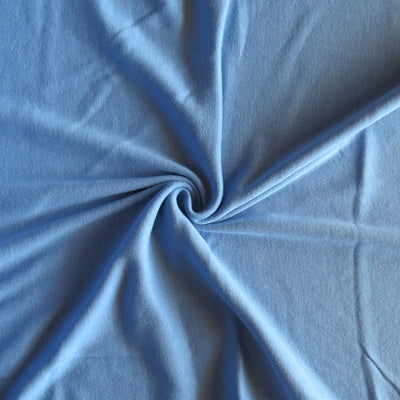 Periwinkle Blue Cotton Rib Knit Fabric