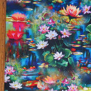 Pond Lillies Poly Spandex Swimsuit Fabric