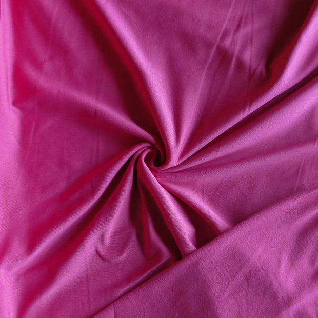 Punch Pink Poly Lycra Fleece Back Knit Fabric