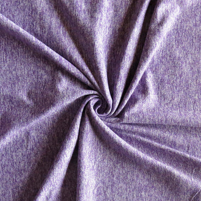 Purple Fizz Marl Poly Lycra Jersey Knit Fabric