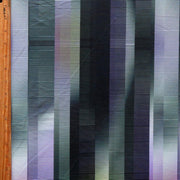 Purple, Olive, and Black Lines Poly Spandex Swimsuit Fabric