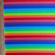 Rainbow Stripe Nylon Spandex Swimsuit Fabric