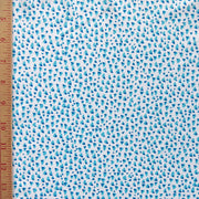 Reaction Blue/Aqua Speckles Poly Lycra Knit Fabric