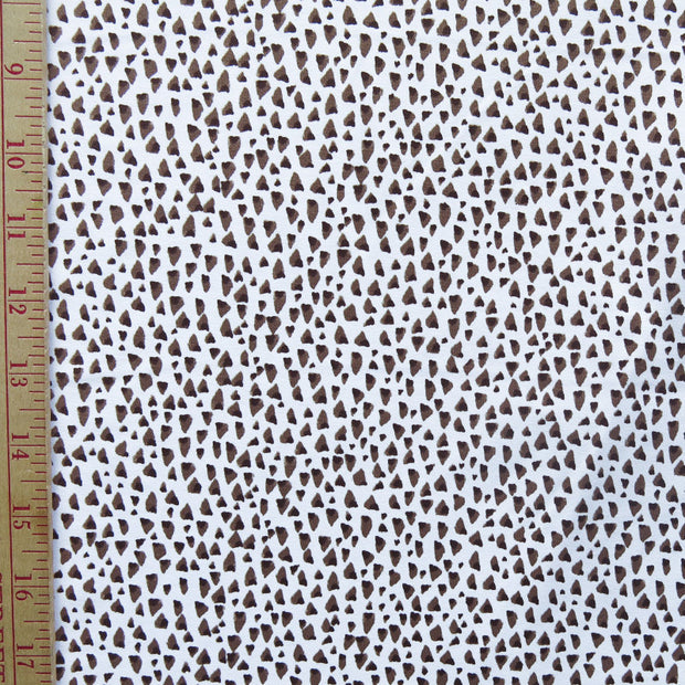 Reaction Brown/Khaki Speckles Poly Lycra Knit Fabric