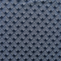 Reaction Navy Diamond Overlap Poly Lycra Knit Fabric