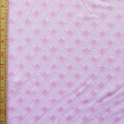 Reaction Pink Diamond Overlap Poly Lycra Knit Fabric
