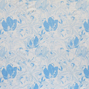 Reaction Power Blue Lilies Poly Lycra Knit Fabric