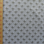 Reaction Taupe Diamond Overlap Poly Lycra Knit Fabric