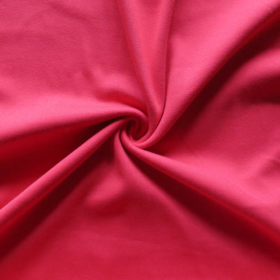 Red Cotton Heavy Rib Knit Fabric