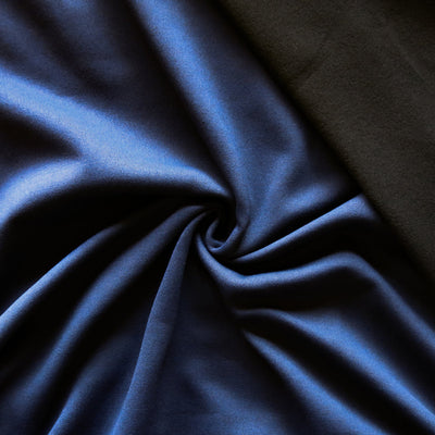 Navy/Black Repreve Powerstretch Fleece Knit Fabric - SECONDS - Not Quite Perfect.