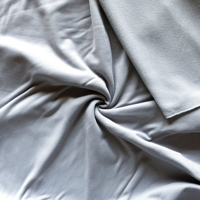 Silver Repreve Powerstretch Fleece Knit Fabric