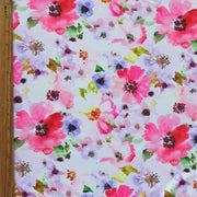 Romantic Flowers Nylon Spandex Swimsuit Fabric
