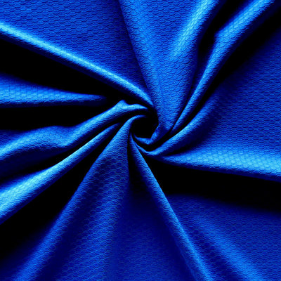 Royal Dri-Fit Bubble Jacquard Poly Spandex Mesh Fabric