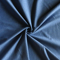 Splendid Denim Blue Sueded Poly Lycra Jersey Knit Fabric