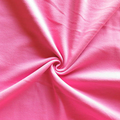 Pink Bloom Cotton Heavy Rib Knit Fabric