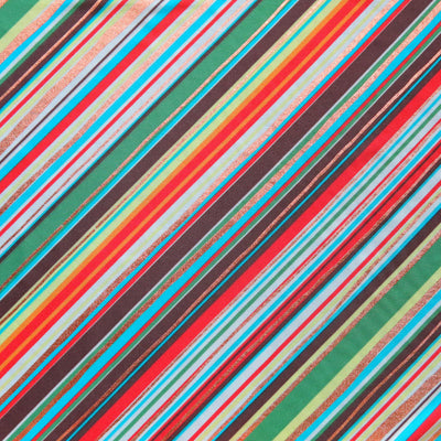 Summer Diagonal Stripe Nylon Spandex Swimsuit Fabric - SECONDS - Not Quite Perfect