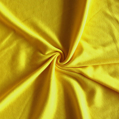 Sunshine Yellow 2x1 Cotton Rib Knit Fabric