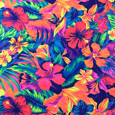 Tahitian Floral Nylon Spandex Swimsuit Fabric