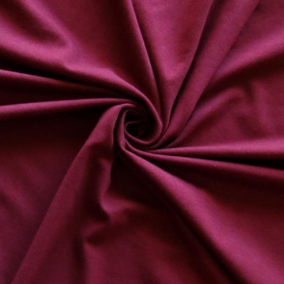 Tawney Port Bamboo Organic Cotton Spandex Jersey Knit Fabric