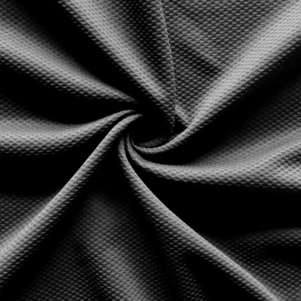 Black Thermo Micropoly Lycra Jersey Knit Fabric