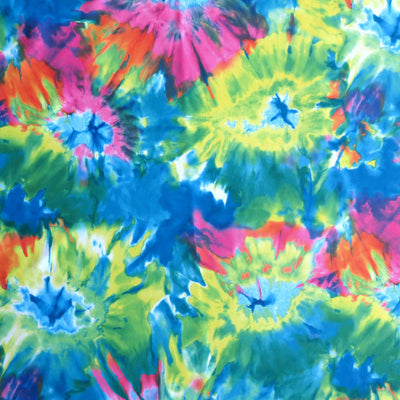Olympus Brilliant Tie Dye Poly Spandex Athletic Jersey Knit Fabric
