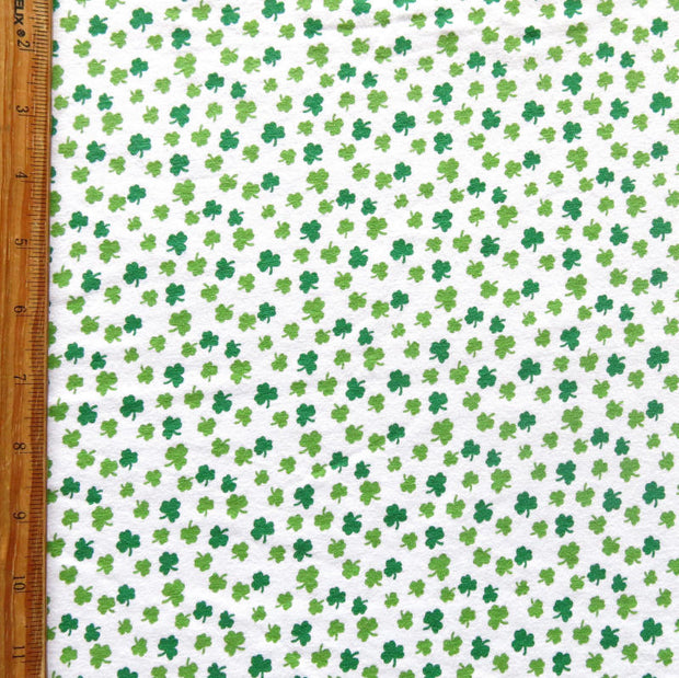 Tiny Shamrocks Cotton Spandex Jersey Knit Fabric