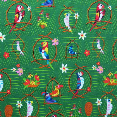 Parrot Party Cotton Knit Fabric