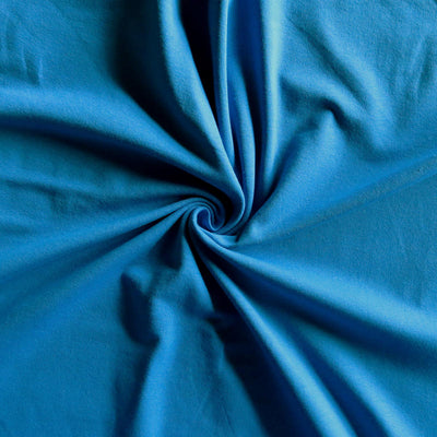 Triumph Blue 10 oz. Cotton Lycra Jersey Knit Fabric
