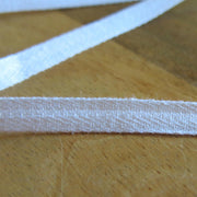 White Herringbone Pattern 3/8  inch Cotton Twill Tape