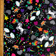 Unicorns and Rainbows Nylon Spandex Swimsuit Fabric
