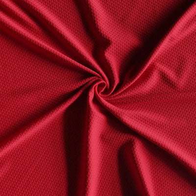 University Red Dri-Fit Hexagon Jacquard Lycra Jersey Knit Fabric