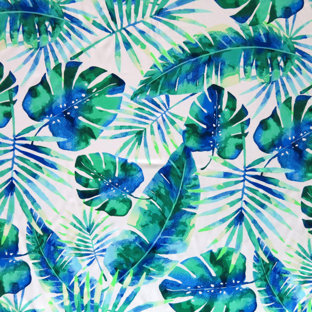 Watercolor Tropic Nylon Spandex Swimsuit Fabric