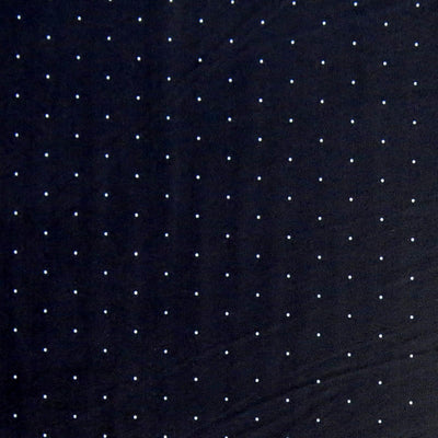 White Microdots on Very Dark Navy Nylon Spandex Swimsuit Fabric