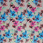 Wildflowers on Taupe Nylon Spandex Swimsuit Fabric