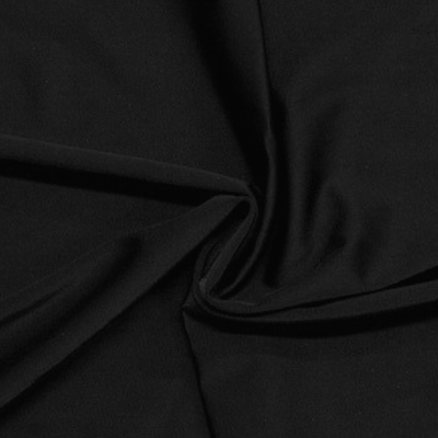 Zen Black Nylon Spandex Athletic Jersey Knit Fabric