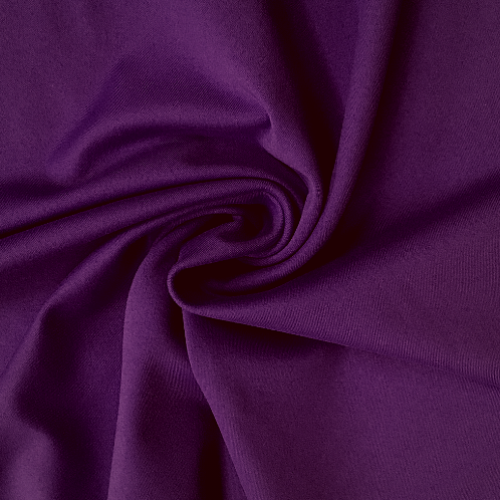 Zen Imperial Purple Nylon Spandex Athletic Jersey Knit Fabric