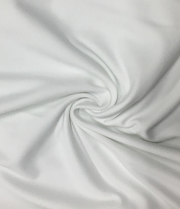 Zen White Nylon Spandex Athletic Jersey Knit Fabric