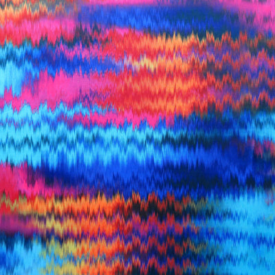 Zig Zag Brights Nylon Spandex Swimsuit Fabric
