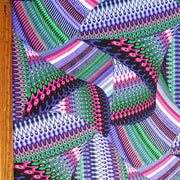 Abstract Wave Nylon Spandex Swimsuit Fabric