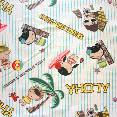 Aloha Girls Cotton Fleece Fabric