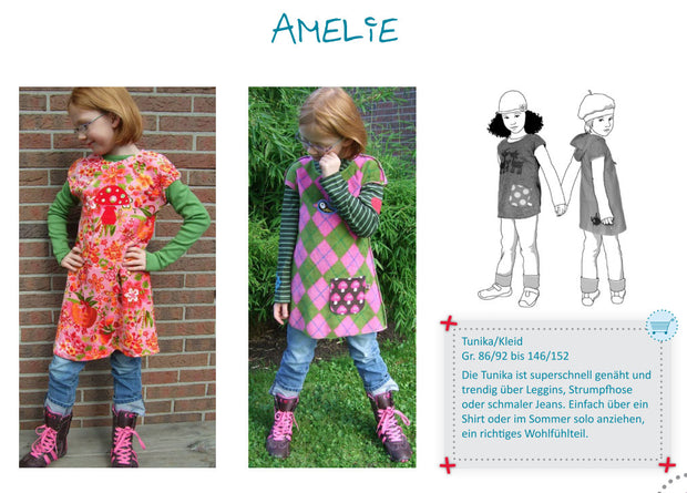 Amelie Mod Mini Dress Sewing Pattern by Farbenmix