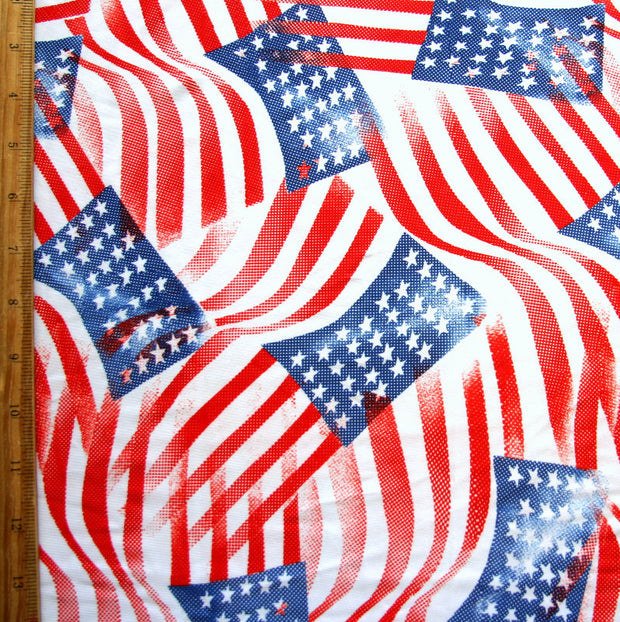 Star Spangled Banner Nylon Lycra Swimsuit Fabric