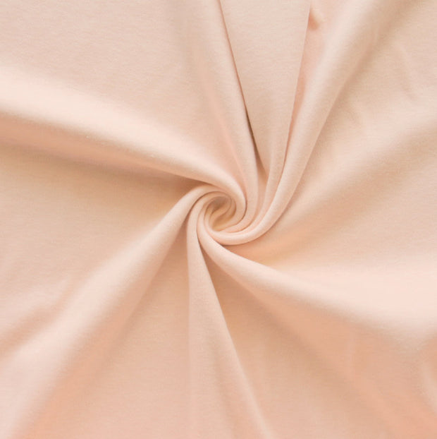 Apricot Cotton Interlock Fabric