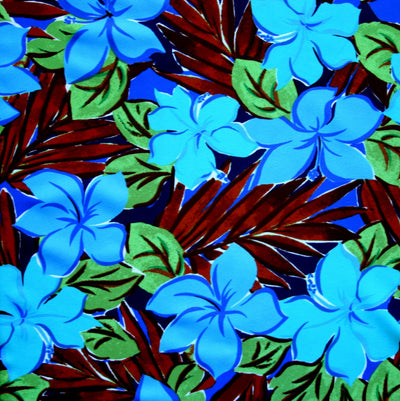 Peacock/Aqua Floral Nylon Lycra Swimsuit Fabric