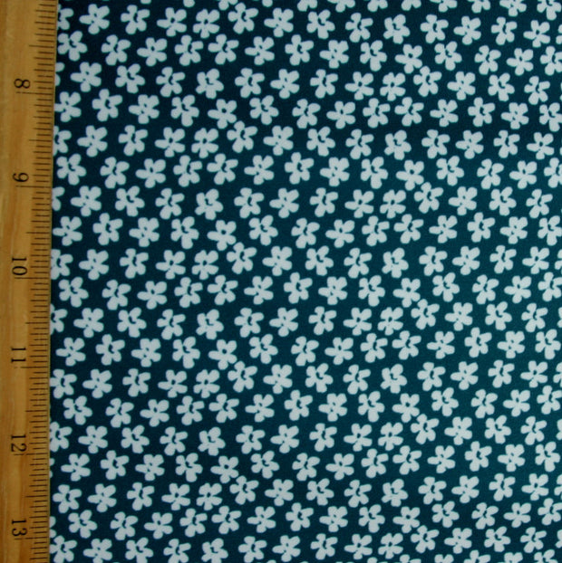 Mint Asian Small Floral Swimsuit Fabric