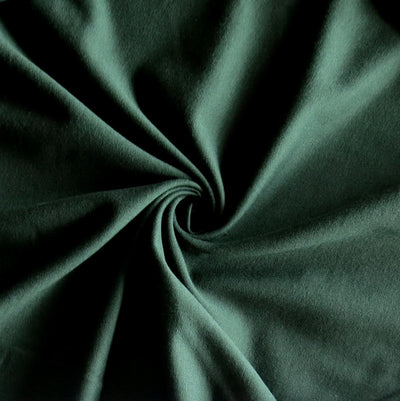 Aspen Green Bamboo Cotton Lycra French Terry Fabric