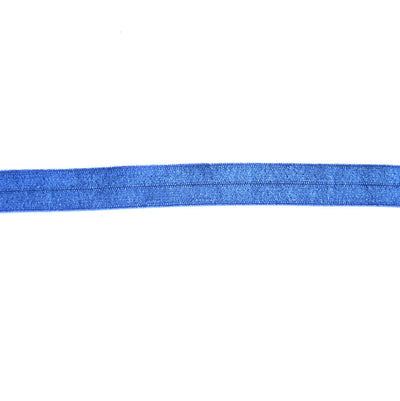 Azure Blue Fold Over Elastic Trim